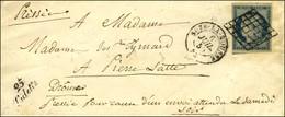 Grille / N° 4 Càd T 15 SUZE-LA-ROUSSE 25 Cursive 25 / Tulette. 1850. - TB / SUP. - 1849-1850 Ceres