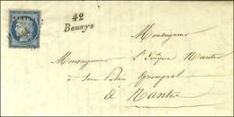 PC 444 / N° 4 (leg Def) Cursive 42 / Bouayé (rare) Sur Lettre Avec Texte Pour Nantes. 1852. - TB / SUP. - R. - 1849-1850 Ceres