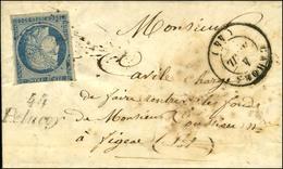 PC 2395 / N° 4 (def) Càd T 15 CAHORS (44) Cursive 44 / Pelacoy (rare) Sur Lettre Avec Texte Daté De Maxou Pour Figeac. 1 - 1849-1850 Ceres