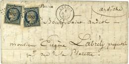 PC 2487 / N° 4 (2 Def) Càd T 15 CERDON (1) Cursive 1 / Poncin. 1852. - TB. - 1849-1850 Ceres