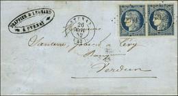 PC 2949 / N° 4 Paire Càd T 15 STENAY (53). 1852. - TB / SUP. - 1849-1850 Ceres