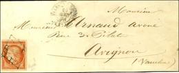 Grille / N° 5 Càd T 15 VILLEFRANCHE-S-RHONE (25) Sur Lettre Pour Avignon. 1851. - TB. - R. - 1849-1850 Ceres