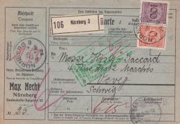Bulletin D'expédition De Nürnberg à Destination De Vevey - 1925 - Allemagne