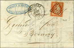Grille / N° 5 Orange Vif (belles Marges) Càd T 14 GRANVILLE (48). 1850. - TB / SUP. - R. - 1849-1850 Ceres