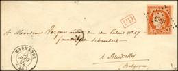 PC 1885 / N° 5f (variété 4 Retouché) Càd T 15 MARMANDE (45). 1852. - SUP. - RR. - 1849-1850 Ceres