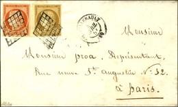 Grille / N° 1 Bdf + N° 5 Càd T 15 CHATELLERAULT (80). 1851. - SUP. - R. - 1849-1850 Ceres
