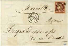 Grille / N° 6 Carmin Très Belles Marges Càd T 15 LYON (68). 1851. - SUP. - R. - 1849-1850 Ceres