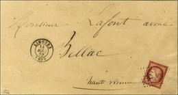 PC 1730 / N° 6 Carmin (belles Marges) Càd T 15 LIMOGES (81) Sur Lettre 3 Ports Pour Bellac. 1852. - TB / SUP. - R. - 1849-1850 Ceres