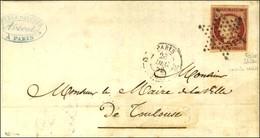 Etoile / N° 6 Nuance Carmin Cerise Belles Marges Càd PARIS (60) Sur Lettre 3 Ports Pour Toulouse. 1852. - SUP. - R. - 1849-1850 Ceres