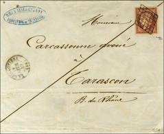 Grille / N° 7 Nuance Rouge-brun (belles Marges) Càd T 15 LA GUILLOTIERE (68) 11 FEVR. 49 Sur Lettre Pour Tarascon. - SUP - 1849-1850 Ceres