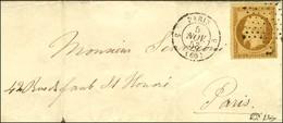 Etoile / N° 9 Càd 5 PARIS 5 (60) Sur Lettre Avec Texte Adressée Localement. 1853. - TB / SUP. - R. - 1852 Louis-Napoleon