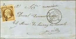 Etoile / N° 9 Càd 5 PARIS * (60) Sur Lettre Avec Texte Adressée Localement. 1853. - TB / SUP. - R. - 1852 Louis-Napoleon