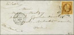 Etoile / N° 9 (belles Marges) Càd LETTRE AFFie DE PARIS POUR PARIS Sur Lettre Avec Texte Pour Paris. 1854. - SUP. - R. - 1852 Louis-Napoleon
