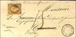 PC 623 / N° 9 (infime Def) Càd T 15 CASSAGNES-BEGONHES 11 Sur Lettre Avec Texte Insuffisamment Affranchie Pour Carcenac  - 1852 Louis-Napoleon