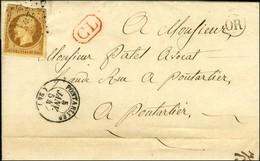 PC 2527 / N° 9 (def) Càd T 15 PONTARLIER (24) OR Sur Lettre Avec Texte Daté De Gilley Adressée Localement à Pontarlier,  - 1852 Louis-Napoleon