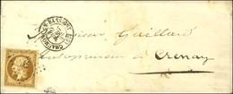 PC 823 / N° 9 Càd T 15 CHAUMONT-EN-BASSIGNY (50) Sur Lettre Avec Texte Adressée Localement à Crenay. 1854. - TB. - R. - 1852 Louis-Napoleon