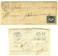 PC Bleu 1617 / N° 10 Càd T 15 Bleu LAGUIOLE (11) 9 MAI 53 Sur Lettre Avec Texte Adressée à Espalion. Nous Joignons à Cet - 1852 Louis-Napoleon
