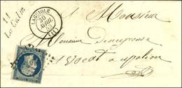 PC 1913 / N° 10 Càd T 15 LAGUIOLE (11) Cursive 11 / La Calm Sur Lettre Avec Texte Pour Espalion. 1853. - TB. - 1852 Louis-Napoleon