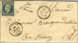 PC 990 / N° 10 Càd T 15 MAICHE (24) Cursive 24 / Cour-/ St Maurice Dateur B. 1854. - SUP. - 1852 Louis-Napoleon