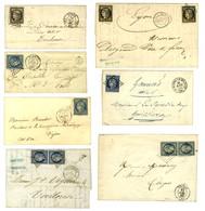 Lot De 7 Lettres Entre Le N° 3 Et Le N° 10. - TB. - 1852 Louis-Napoleon