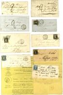 Lot De 9 Lettres De 1849 à 1855 Dont 1 Dossier De Saisie. - B / TB. - 1852 Louis-Napoleon