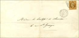 Grille / N° 13 Càd LETTRE AFFie DE PARIS POUR PARIS Sur Imprimé Local. 1855. - TB / SUP. - 1853-1860 Napoleon III