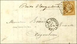 Losange BP1 / N° 13 Càd BORDEAUX A PARIS, Au Recto Mention Manuscrite '' Boîte D'Angoulême '' Sur Lettre Avec Texte Daté - 1853-1860 Napoleon III