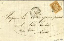 Losange D / N° 13 (pd) Avec Très Rare Surcharge Bleue DUCEL, Càd De Distribution Sur Lettre Avec Texte Et En-tête De La  - 1853-1860 Napoleon III