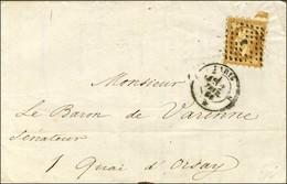 Losange J / N° 13 Type I Piquage Susse Càd J PARIS J Sur Lettre Pour Paris. 1861. - TB / SUP. - R. - 1853-1860 Napoleon III