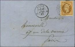 Cercle De Points / N° 13 Type II Càd * PARIS * Sur Lettre Locale. 1862. - SUP. - 1853-1860 Napoleon III