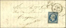 PC 3742 / N° 14 Cursive 80 / Dangé, B. RUR. A '' St Romain Sur Vienne '', Dateur A. 1854. - TB / SUP. - R. - 1853-1860 Napoleon III