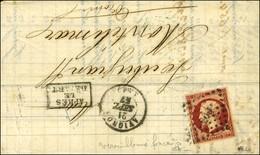 PC 209 / N° 17 Nuance Vermillonée Foncée Càd T 15 AVIGNON (86) Sur Lettre 3 Ports Pour Montélimar. 1857. - TB. - R. - 1853-1860 Napoleon III