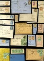 Lot De 78 Lettres Avec Emission Cérès Dentelé. - B / TB. - 1871-1875 Ceres