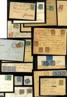 Lot De 36 Lettres Emission Type Sage (N Sous U) N° 74 Au N° 81. - B / TB. - 1876-1878 Sage (Type I)