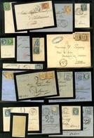 Lot De 18 Lettres De La Guerre De 1870 Dont Alsace-Lorraine. - B / TB. - Postmark Collection (Covers)