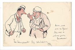 19941 -   Deux Hommes Discutant Lith-Artist Anstalt München Serie XV N°16969 - Hommes