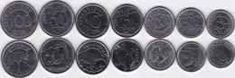 Brazil - 5 10 50 100 CR$ 100 500 1000 Cruzeiros 1992 - 1994 UNC Animals Set 7 Coins Ukr-OP - Brazil