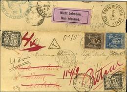 Càd LUNEVILLE / N° 80 + 97 Sur Lettre Recommandée Pour Nancy Réexpédiée En Poste Restante à Vienne (Autriche) Puis Retou - Unclassified