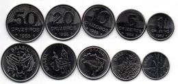Brazil - 1 5 10 20 50 Cruzeiros 1982 - 1985 UNC Set 5 Coins Ukr-OP - Brasile