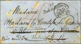 78 / La Rade De Toulon Càd T 15 TOULON-S-MER (78) Sur Lettre Adressée En Côte D'Or Réexpédiée Dans Le Valais Suisse. Au  - Postmark Collection (Covers)