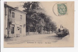 CPA 04 CORBIERES La Gare - Otros Municipios