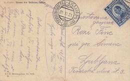 Yugoslavia Bahnpost Railway TPO Postmark Beograd-Ljubljana 3 ( 1921 ) - Covers & Documents