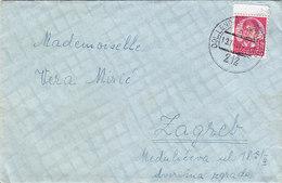 Yugoslavia Bahnpost Railway TPO Postmark Dol.Lendava-Zagreb 212 ( 1937 ) - Covers & Documents