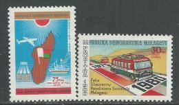 Madagascar N° 636 / 37 XX Anniversaires  De  L' Indépendance Et De La Révolution Malgache, Les 2 Vals Sans Charnière, TB - Madagascar (1960-...)