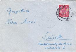 Yugoslavia Bahnpost Railway TPO Postmark Maribor-Hodos 1939 - Covers & Documents