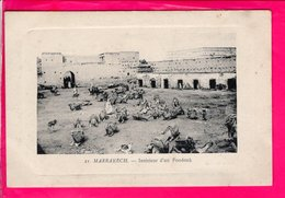 Cpa  Carte Postale Ancienne - Marrakech Interieur D Un Fondouk - Marrakech