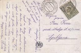Yugoslavia Bahnpost Railway TPO Postmark Trbiz-Ljubljana 72 ( 1921 ) - Covers & Documents
