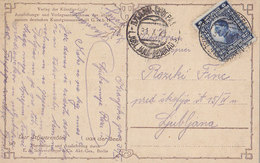 Yugoslavia Bahnpost Railway TPO Postmark Ljubljana-Beograd 3 ( 1921 ) - Covers & Documents