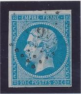 """20 C Bleu Postes """"F"""" Signé Calves TB. - 1853-1860 Napoléon III"""