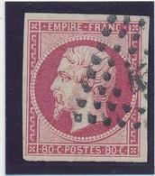 80 C Rose N° 17 B Signé Calves TB. - 1853-1860 Napoléon III